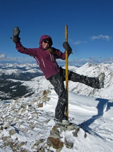 Clinton peak summit, christy mahon ski 13ers