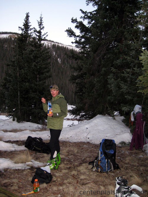 A grassy spot to camp by Weminuche Pass. We barely made it by sunset.