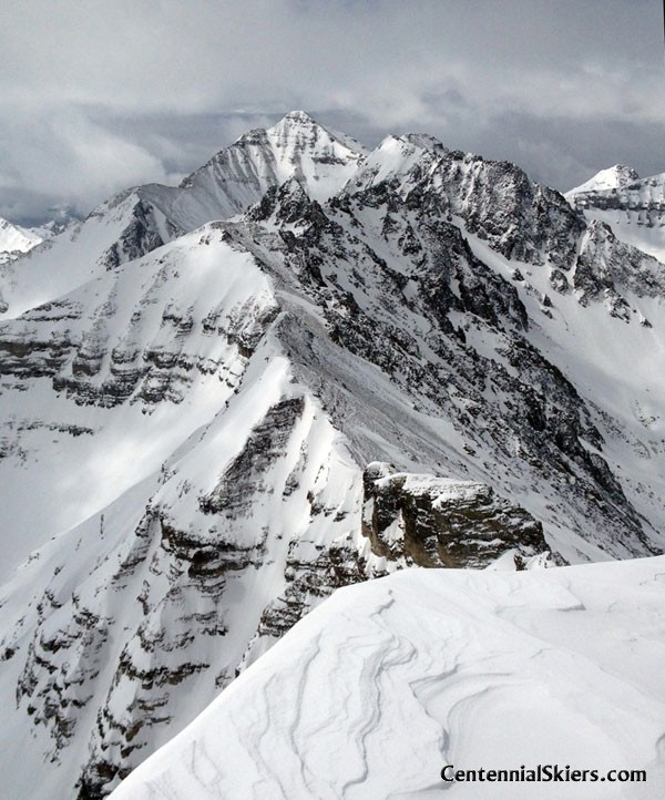 Cathedral Peak, Pearl Couloir, Centennial Skiers, Castle peak