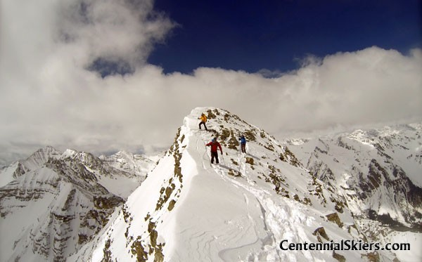 Cathedral Peak, Pearl Couloir, Centennial Skiers