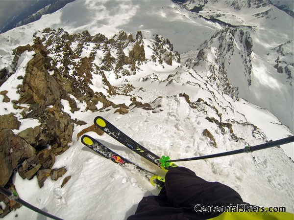 Cathedral Peak, Pearl Couloir, Centennial Skiers, kastle skis