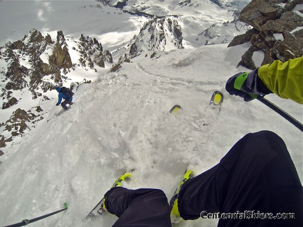 Cathedral Peak, Pearl Couloir, Centennial Skiers, ted mahon, kastle skis, chris davenport