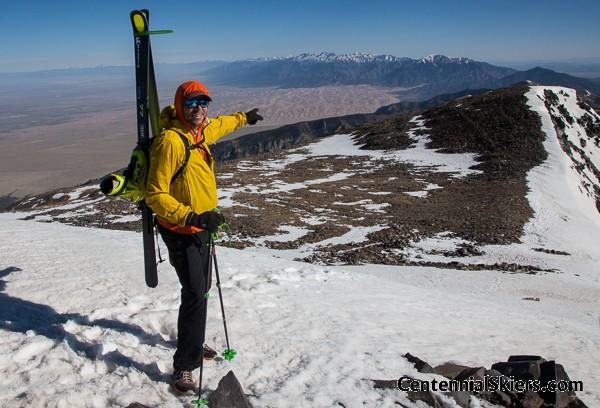 California peak, centennial skiers
