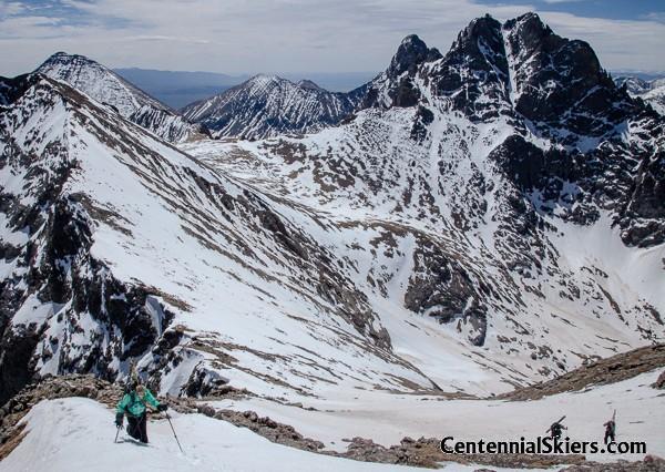 crestone peak, centennial skiers, christy mahon, columbia point