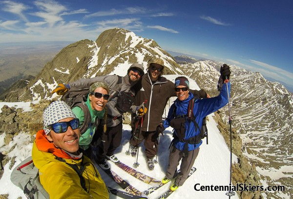 columbia point, centennial skiers, kit carson peak