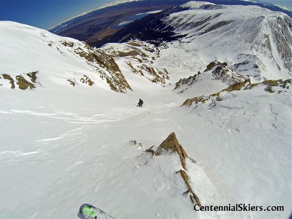 Hopeful Couloir, Mount Hope, centennial skiers