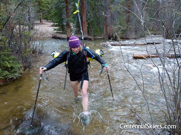 halfmooon creek, centennial skiers
