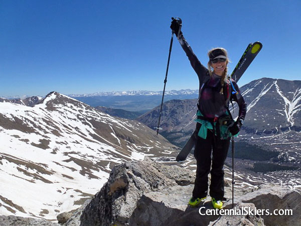 Centennial skiers, casco peak, christy mahon