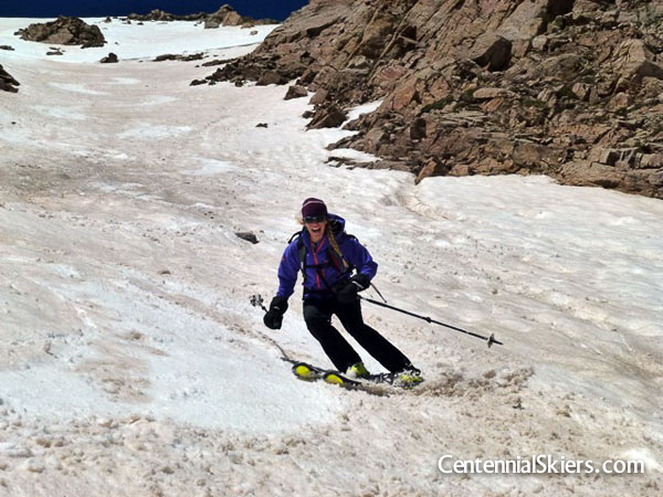 Christy Mahon, Casco peak, centennial skiers