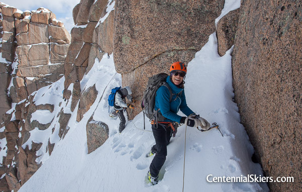 Christy Mahon on the Jagged mountain traverse