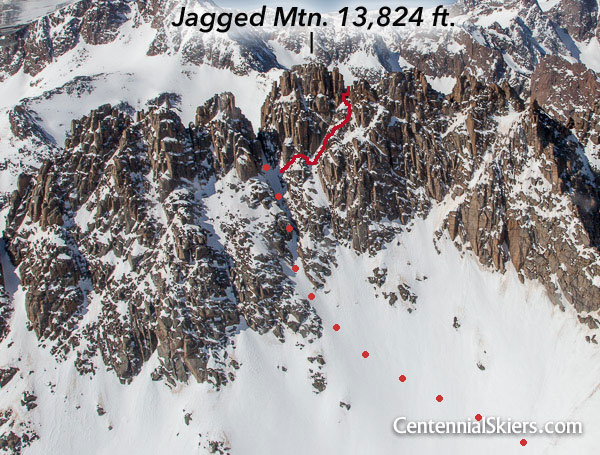 Jagged Mountain climbing route